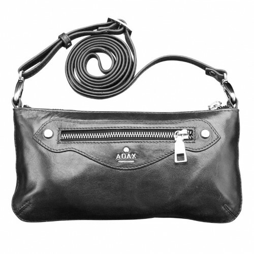 Adax SALERNO ZIPPERBAG, 154569 in de kleur black