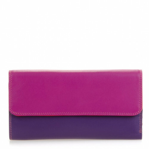 Mywalit SOFT TRI-FOLD ZIP PURSE L, 269 in de kleur 75 sangria multi 5051655024502