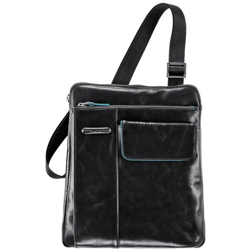 Piquadro BLUE SQUARE SHOULDPOCKET, CA1815B2 in de kleur N nero 8024671116046