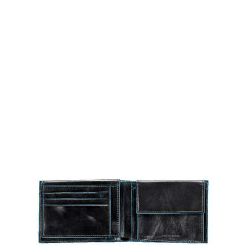 Piquadro BLUE SQUARE MEN'S WALLET, PU1392B2 in de kleur N nero 8024671038843