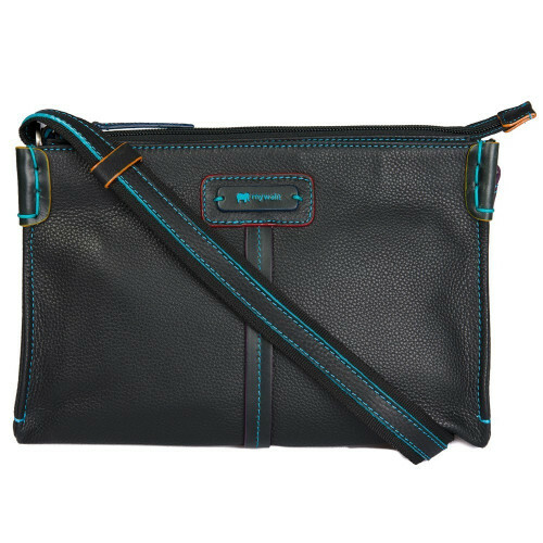 Mywalit WINDSOR TOPZIP SHLDRBAG, 674 in de kleur 4 black pace 5051655042360